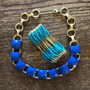 Jewelry - Blue bauble Jewelry set Necklace & Bracelet